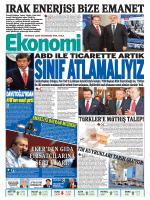 29 EYLÜL 2014 - Ekonomi Gazetesi