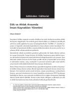 Etik ve Ahlak Arasında İnsan Kaynakları Yönetimi