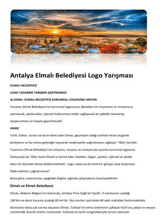 Antalya Elmalı Belediyesi Logo Yarışması