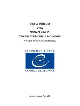 Avrupa Konseyi: Cinsel Yönelim veya Cinsiyet