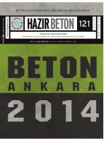 Hazır Beton Dergisi 121. Sayı - Türkiye Hazır Beton Birliği