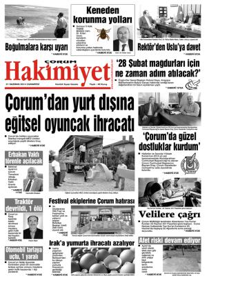 21 haziran.qxd - Çorum Hakimiyet Gazetesi