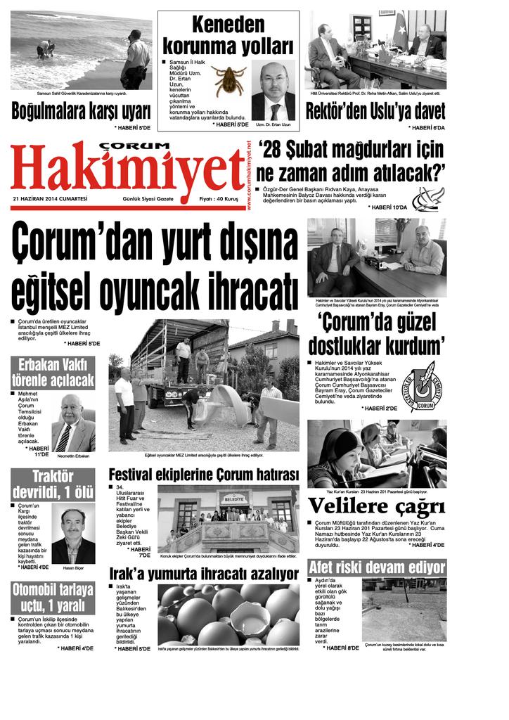 21 Haziran Qxd Corum Hakimiyet Gazetesi