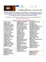 Liste des étudiants convoqués à la formation sur l