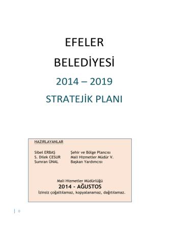 2014-2019 Stratejik Plan