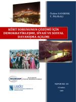 kürt sorununun çözümü için demokratikleşme, siyasi ve