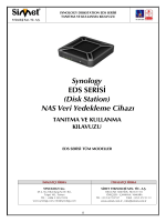 Synology EDS SERİSİ (Disk Station) NAS Veri Yedekleme Cihazı