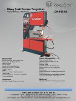 Dikey Şerit Testere Tezgahları DK-600.03