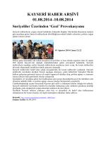 kayseri haber arşivi 01.08.2014–10.08.2014 - Kayham
