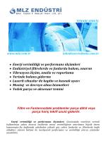 • Enerji verimliliği ve performans ölçümleri • Endüstriyel