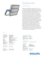 Product Leaflet: ArenaVision LED BVP420/421/422 projektör