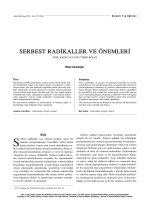 PDF - Serbest Radikaller ve Önemleri