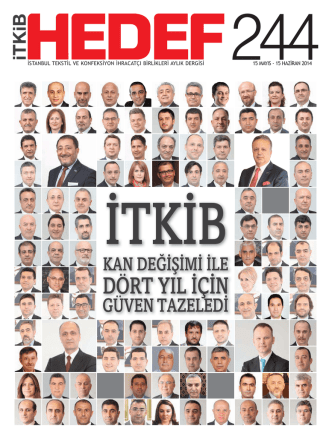 24415 mayıs - 15 haziran 2014 - İstanbul Tekstil ve Konfeksiyon
