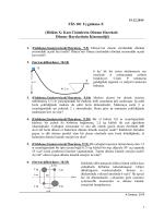 FİZ-101 Uygulama-X (Bölüm X: Katı Cisimlerin Dönme Hareketi