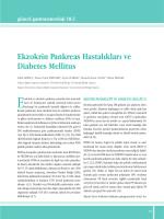 Ekzokrin Pankreas Hastalıkları ve Diabetes Mellitus