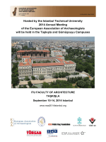 Hosted by the Istanbul Technical University 2014 Annual Meeting of