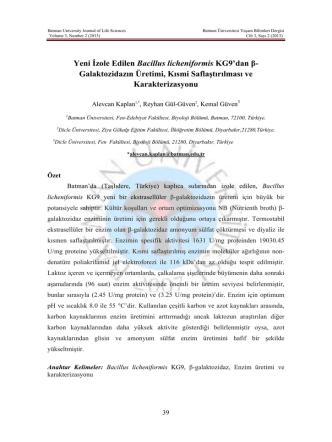 Batman University Journal of Life Sciences Batman Üniversit
