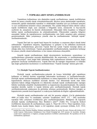7.Bölüm Toprakların sınıflandırılması