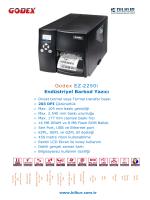 Godex EZ-2250i Teknik Özellikler