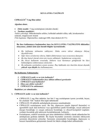 Cipralex® 5 mg film tablet