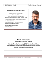 CURRICULUM VITAE Prof.Dr. Tuncay Taymaz