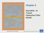 Chapter 5. Resources and Trade: The Heckscher