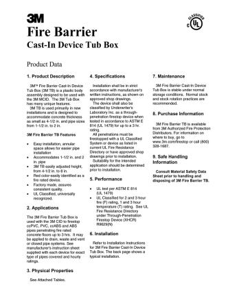 Cast-In Device Tub Box