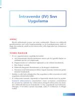 (IV) Sıvı Uygulama - İzmir Güney Kamu Hastaneleri Birliği Genel