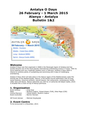 Antalya O Days 26 February - 1 March 2015 Alanya