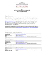 T.C. BEZMİÂLEM VAKIF ÜNİVERSİTESİ Öğrenci İşleri Direktörlüğü