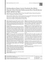Kardiyopulmoner Bypass Geçiren Hastalarda Akut