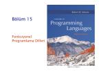 Fonksiyonel Programlama