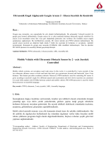 Ultrasonik Engel Algılayıcılı Gezgin Aracın 2