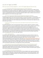 2014 – 2015 Bitirme Projesi Konu Başlıkları