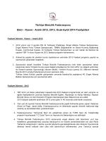ekim, aralık 2012, 2013, ocak, eylül 2014 faaliyet raporu