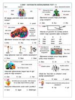 2.sınıf – matematik değerlendirme testi – 9