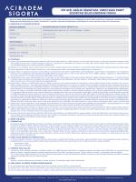vip acil sağlık sigortası- ferdi kaza paket sigortası bilgilendirme formu