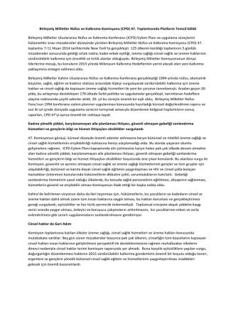 Birleşmiş Milletler Nüfus ve Kalkınma Komisyonu (CPD) 47