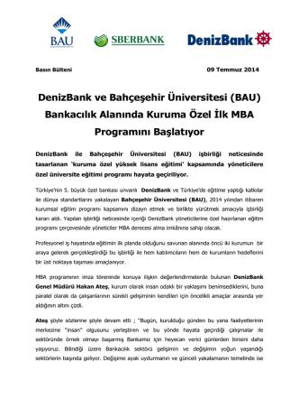 DenizBank ve Bahçeşehir Üniversitesi (BAU) Bankacılık Alanında