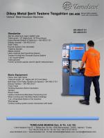 DK 400 Serisi Manual Tablalı Metal Şerit Testere Tezgahı