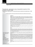 Plasmakinetic vaporization versus transurethral resection of the
