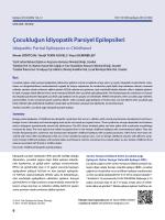 Çocukluğun İdiyopatik Parsiyel Epilepsileri