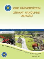 Ege Üniversitesi Ziraat Fakültesi Dergisi