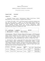 22.01.2014 Tarihli Yönetim Kurulu Kararı