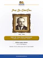 Prof. Dr. Celal Öker - 50. Ulusal Diyabet Kongresi