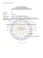 EK-11 Sonuç Raporu Formatı ANKARA ÜNİVERSİTESİ BİLİMSEL