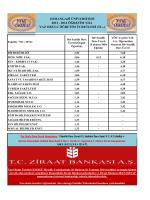 2014 öğretim yılı yaz okulu öğretim ücretleri (tl.-)