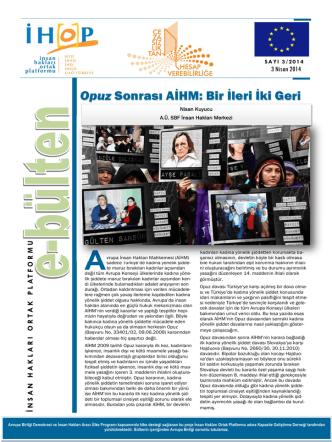 Cezasızlık Bulten No3_2014.pub - İnsan Hakları Ortak Platformu