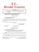 T.C. Resmî Gazete