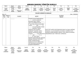 4 şubat 2015 tarihinde yapılan yönetim kurulu